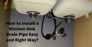 how to install a kitchen sink drain pipe