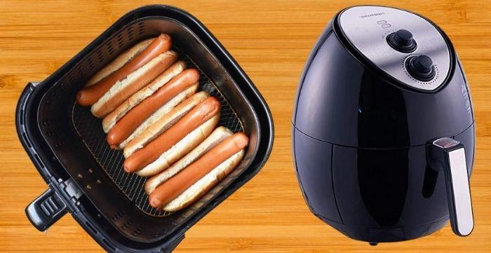 how long do you cook a hotdog in an air fryer