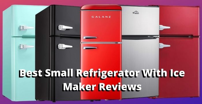 small refrigerator with ice maker