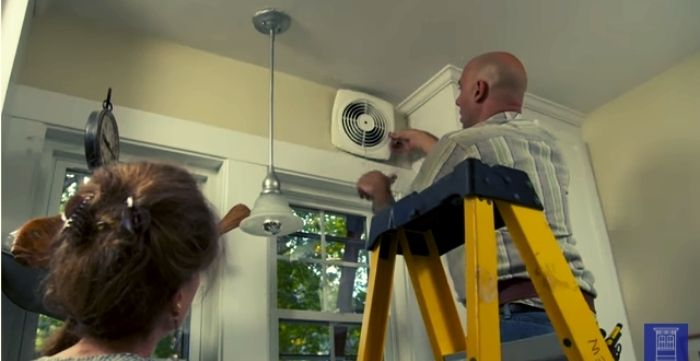 how to install exhaust fan in wall