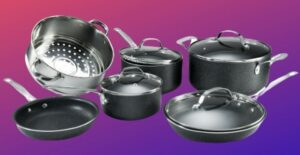 what is granite stone pan made of