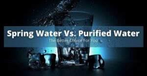 spring water vs. purified water